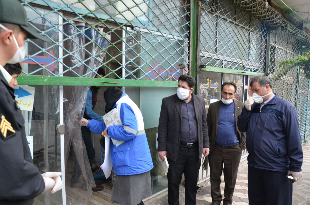 گشت مشترک و بازرسی از واحدهای صنفی شهر لوشان